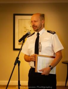 CC Rod Hansen addressing the guestst